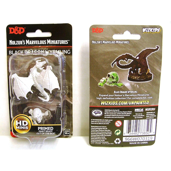 Dungeons & Dragons Nolzur's Marvelous Unpainted Miniatures (W10) Black Dragon Wyrmling