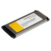 StarTech 1 Port Flush Mount ExpressCard SuperSpeed USB 3.0 Card Adapter with UASP Support