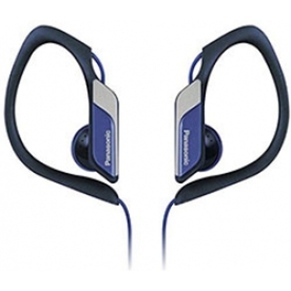 Panasonic Water & Sweat Resistant Sports Earbud Headphones Blue
