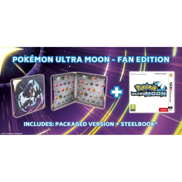 Pokemon Ultra Moon Steelbook Fan Edition 3DS Game - Image 4