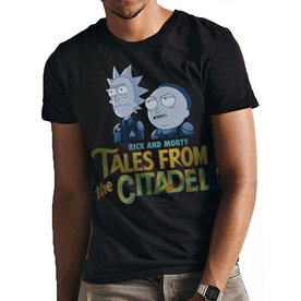 Rick And Morty - Tales From The Citadel men's Large T-Shirt - Blue