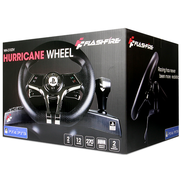 Hurricane Gaming Steering Wheel With Pedals PS4/PS3 - Image 7