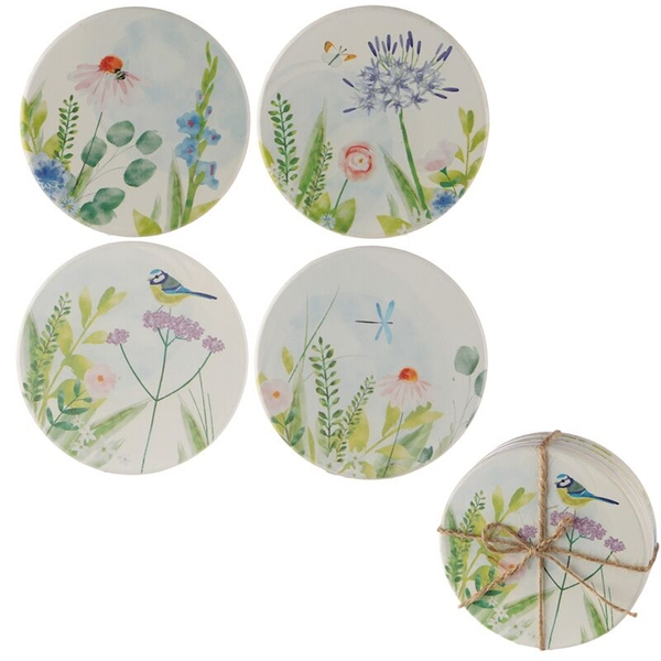 Botanical Garden Design Set of 4 Novelty Coasters