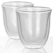 2 Double Walled 190ml Cappuccino Glasses | M&W - Image 3