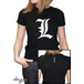 Death Note - L Tribute Women's Large T-Shirt - Black - Image 2