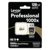 Lexar 128GB microSDXC UHS-II 1000x with Reader (Class 10) U3