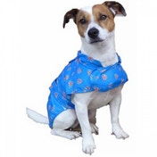 MacPAWS Packable Blue Rain Coat 10-Inches