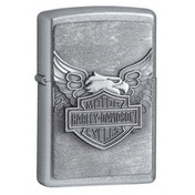 Zippo Iron Eagle Emblem Lighter Street Chrome Windproof Lighter
