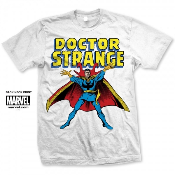 Marvel Comics Doctor Strange Mens White T Shirt Medium