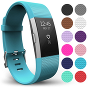Yousave Activity Tracker Strap Single - Cyan (Large)