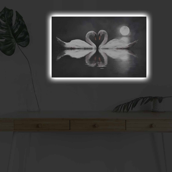 4570DHDACT-154 Multicolor Decorative Led Lighted Canvas Painting