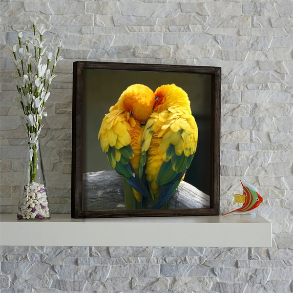 KZM635 Multicolor Decorative Framed MDF Painting