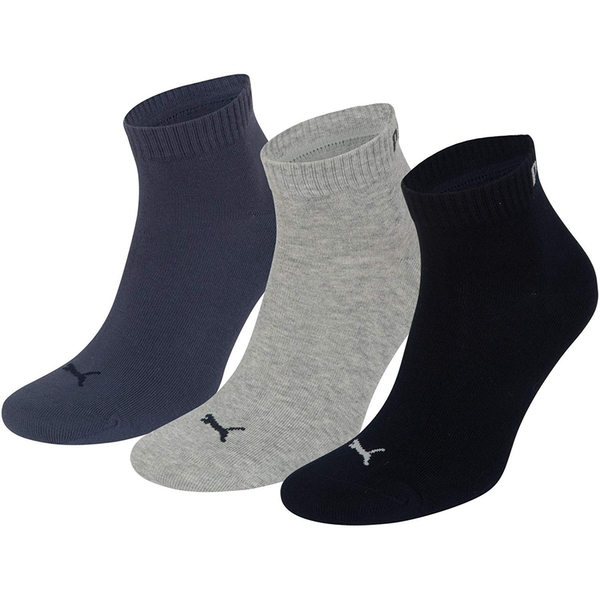 Puma Training Socks UK Size 2H-5 Navy Mix Pack of 3