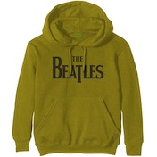 The Beatles - Drop T Logo Unisex Small Pullover Hoodie - Green