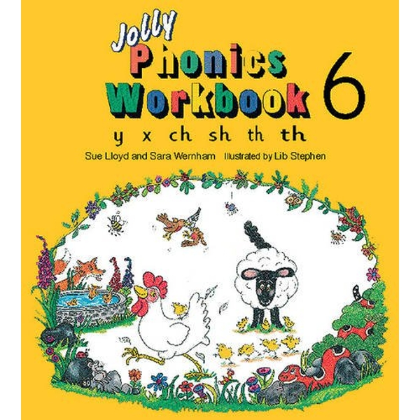 Jolly Phonics Workbook 6: in Precursive Letters (BE) by Sue Lloyd, Sara Wernham (Paperback, 1995)