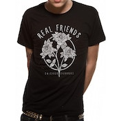Real Friends - Flowers Men's X-Large T-Shirt - Black