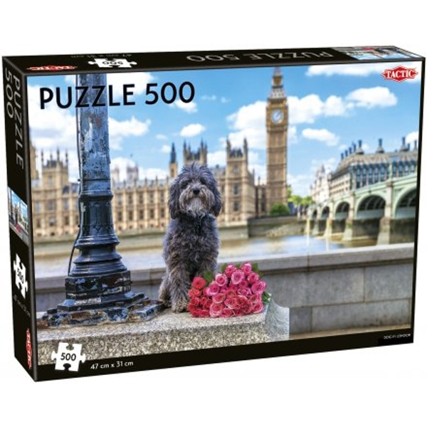 Dog in London 500 Piece Jigsaw Puzzle