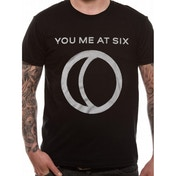 You Me At Six - Half Moon Men's Small T-Shirt - Black