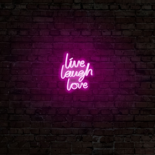 Live Laugh Love - Pink Pink Wall Lamp