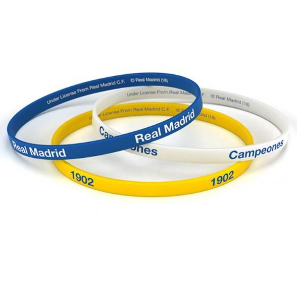 Real Madrid FC (Pack Of 3) Silicone Wristbands