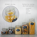 Assorted Set of 5 Clip Top Glass Storage Jars | M&W - Image 2