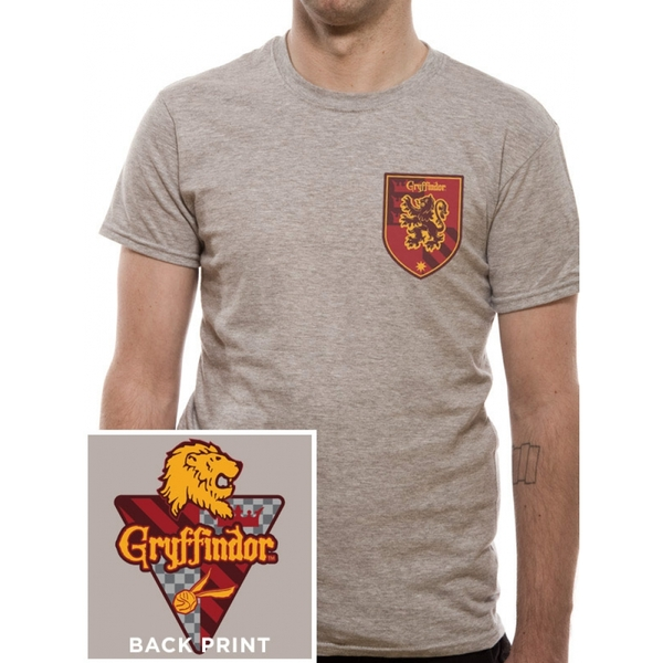 Harry Potter - House Gryffindor Men's Small T-Shirt - Grey