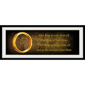 Lord of the Rings One Ring Framed Collector Print