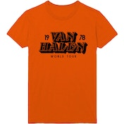 Van Halen - World Tour '78 Men's X-Large T-Shirt - Orange