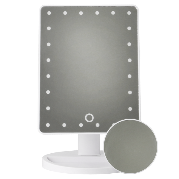 LED Light Up Illuminated Make Up Bathroom Mirror With Magnifier | M&W White New - Image 7