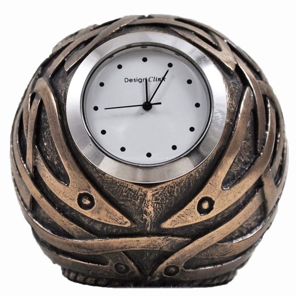 Celtic Design Bronze Ball Shaped Clock