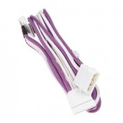 BitFenix Alchemy Molex 4x SATA Adapter 20 cm - sleeved  Purple / White / White