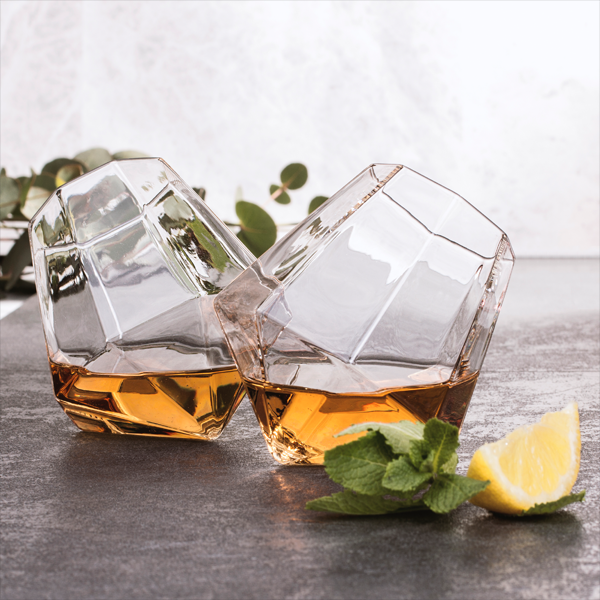Thumbs Up! Diamond Whisky Glasses Set of 2