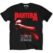 Pantera Red Vulgar Mens Black T Shirt: Small