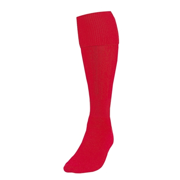 Precision Plain Football Socks Red UK Size 3-6