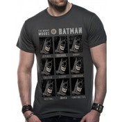 Dc Originals - Moods Of Batman Men's Small T-Shirt - Grey