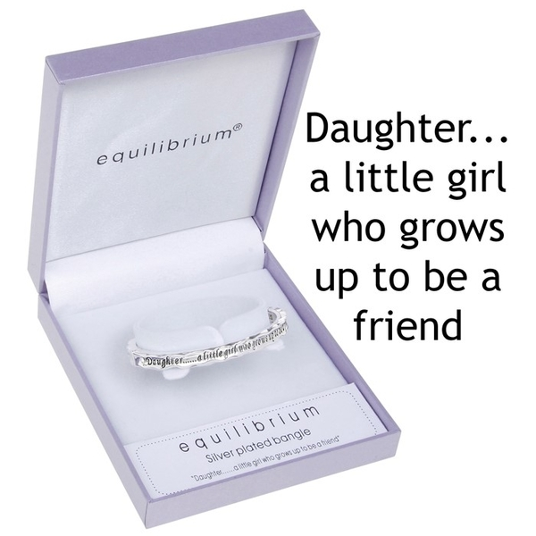 Equilibrium Silver Plated Hinged Bangle Daughter