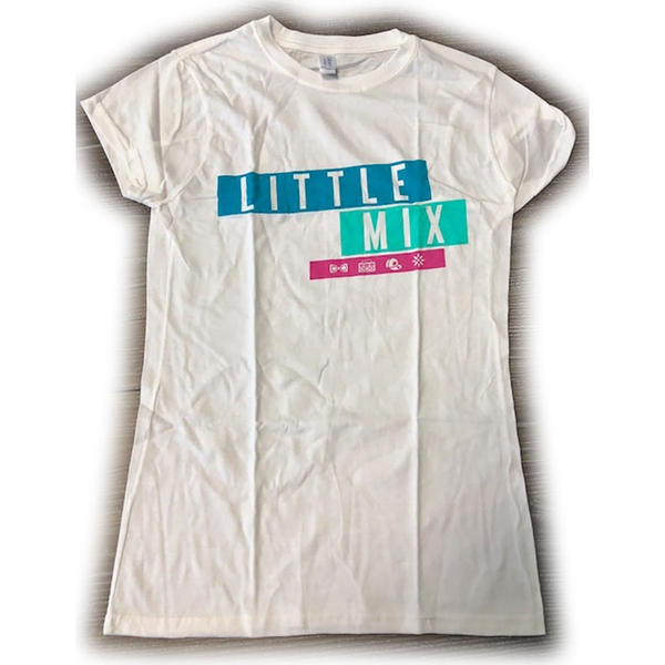 Little Mix - Logo Blue/Pink Women's Large T-Shirt - White