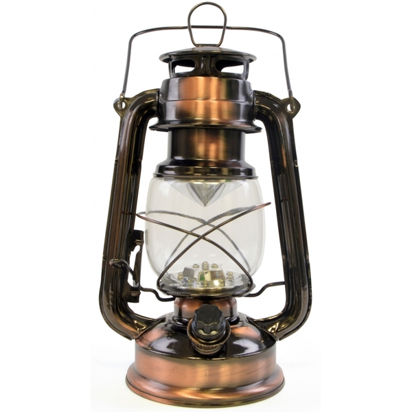 Lloytron 15x LED Storm Lamp Lantern Copper