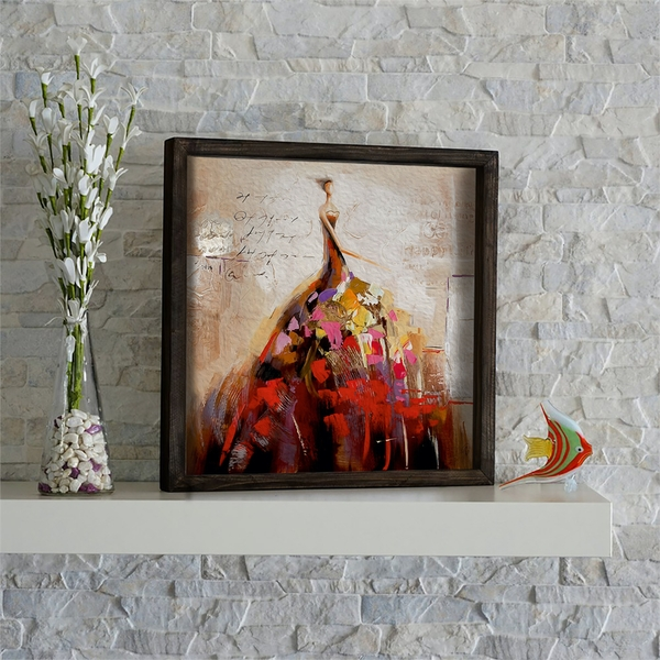 KZM507 Multicolor Decorative Framed MDF Painting