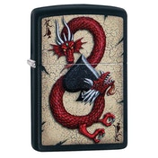 Zippo Dragon Ace Design Black regular Windproof Lighter