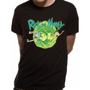Rick And Morty Black Portal Men's Medium T-Shirt - Black