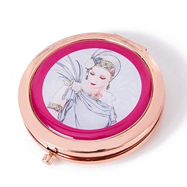 Charleston Rose Gold Compact Mirror - Lady Grey Dress