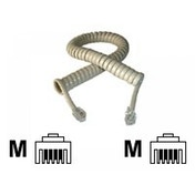 Telephone handset spiral cord Ivory