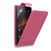 YouSave Accessories Sony Xperia Z Leather-Effect Flip Case - Hot Pink