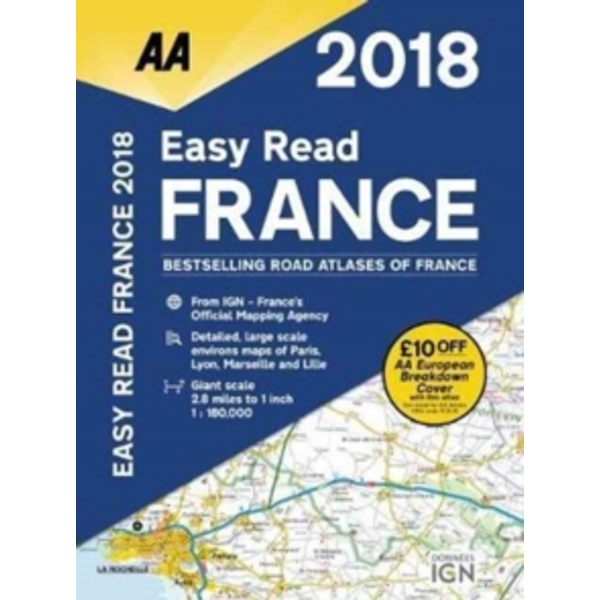 AA Easy Read Atlas France