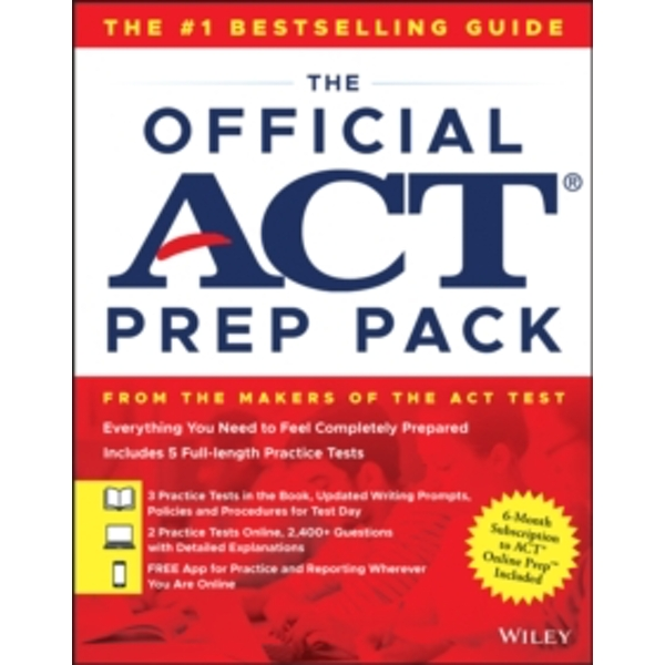The Official ACT Prep Pack with 5 Full Practice Tests (3 in Official ACT Prep Guide + 2 Online)