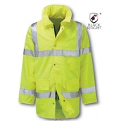 Black Knight Large Geraint 3/4 High Visibility Jacket - Yellow