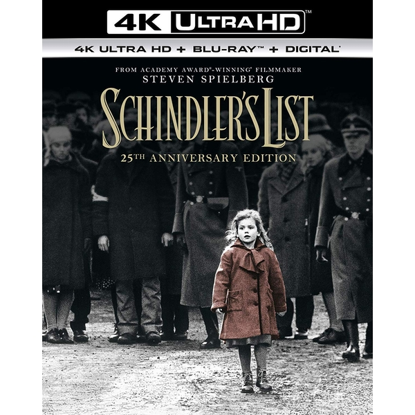 Schindler's List - 25th Anniversary Edition 4KUHD   Blu-ray   Digital Download