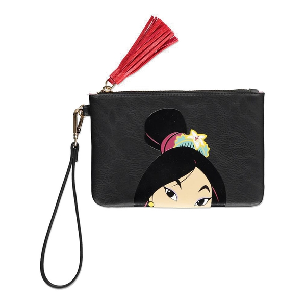 Disney - Mulan Face Coin Purse (Black)