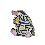Enamelled Niffler Pin Badge